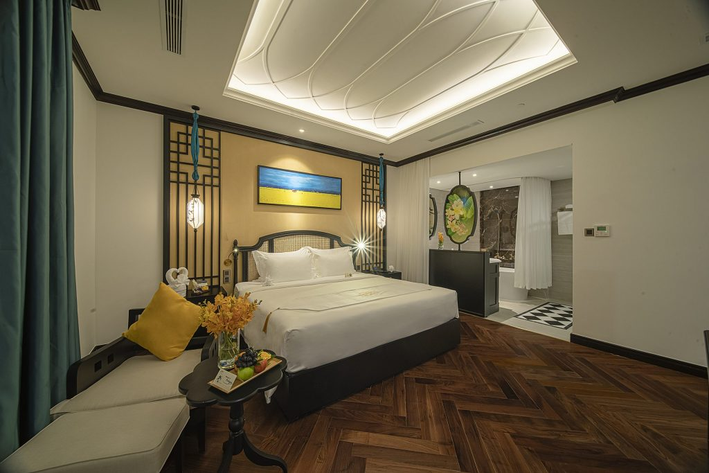 Phòng ngủ ở Potique Hotel chất lượng 5 sao